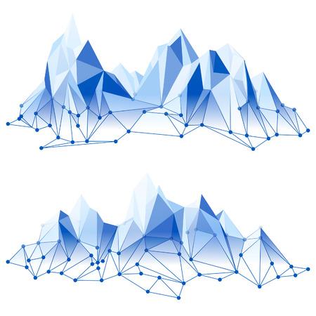 Illustration pour Mountain range in low poly style - image libre de droit