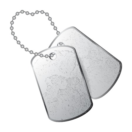Illustration pour Dog tags isolated on white background - image libre de droit