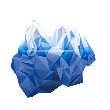 Illustration pour Iceberg in low poly style - image libre de droit
