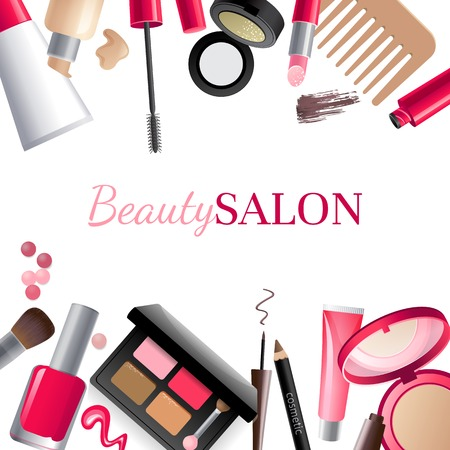 Illustration pour Glamorous make-up background with place for your text - image libre de droit