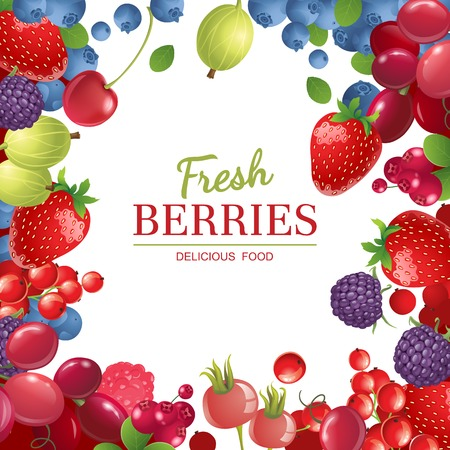 Illustration for Bright  berries  over white background - Royalty Free Image