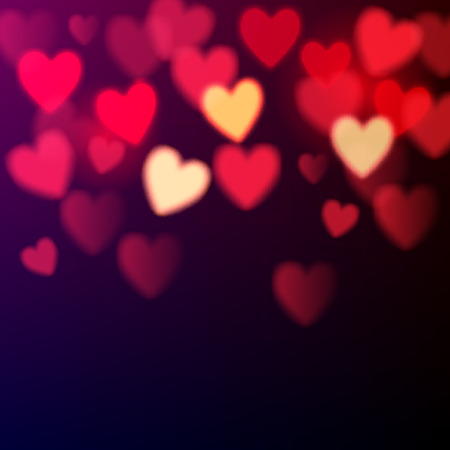 Ilustración de Shiny hearts bokeh Valentine\'s day background - Imagen libre de derechos