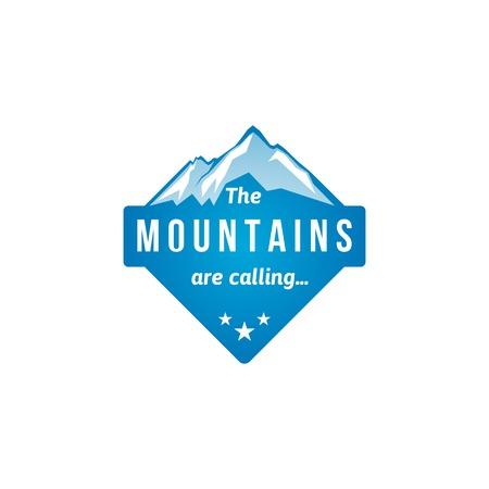 Illustration pour Mountain label with type design - image libre de droit
