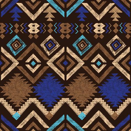Illustration pour Bright hand drawn tribal seamless pattern - image libre de droit