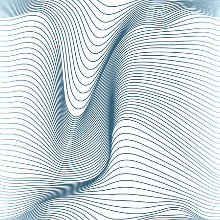 Illustration pour abstract wavy lines seamless pattern - image libre de droit