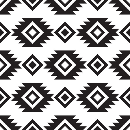 Illustration for Seamless tribal black and white pattern - Royalty Free Image