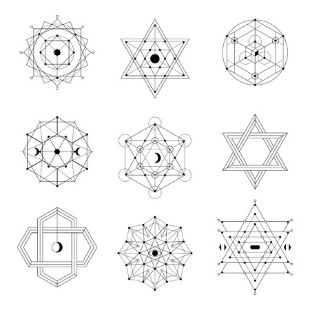 Illustration pour Sacred geometry vector set - image libre de droit