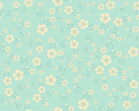 seamless flower pattern mural