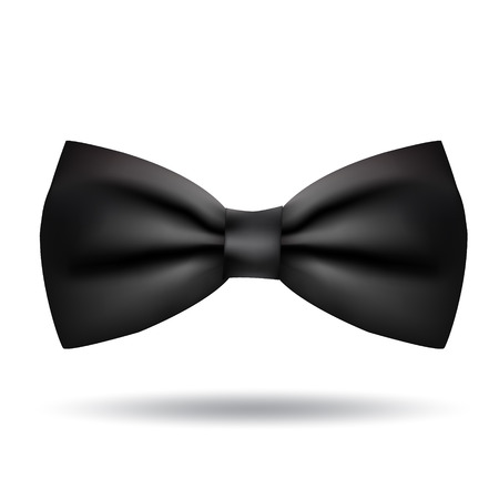 Illustration pour Vector black bow tie icon isolated on white background. Elegant style - image libre de droit