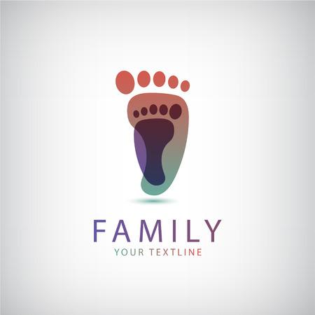 Ilustración de vector family, 2 footprints icon, logo isolated - Imagen libre de derechos