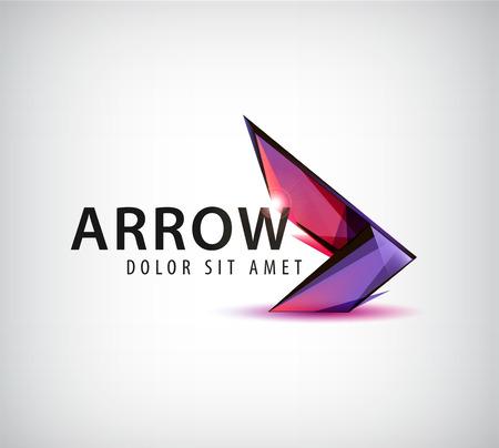 Photo pour vector abstract colorful arrow logo, icon isolated - image libre de droit