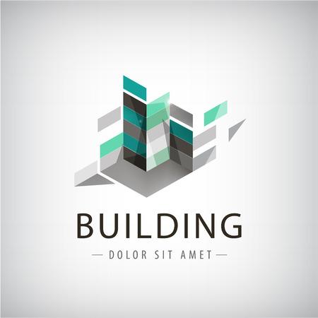 Illustration pour Abstract logo of Colorful buildings - image libre de droit