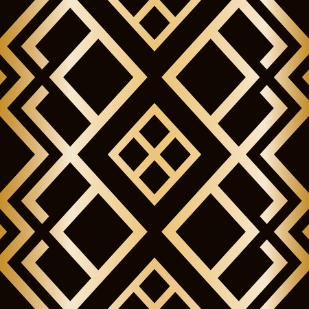 Illustration for Art Deco style seamless pattern. abstract geometric texture. - Royalty Free Image