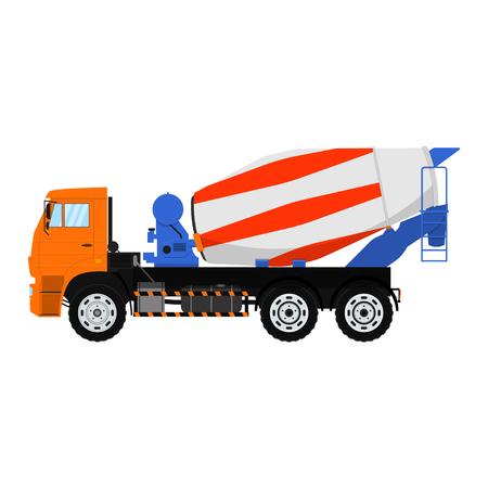 Illustration pour Vector Concrete mixer truck. Isolated on white background. - image libre de droit