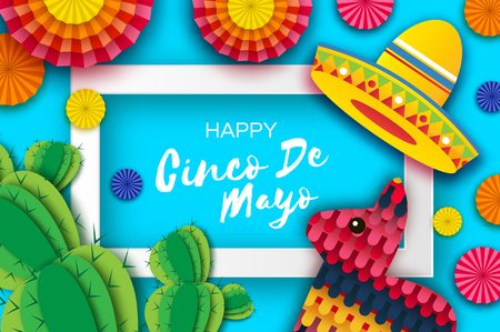 Illustration for Happy Cinco de Mayo Greeting card. - Royalty Free Image