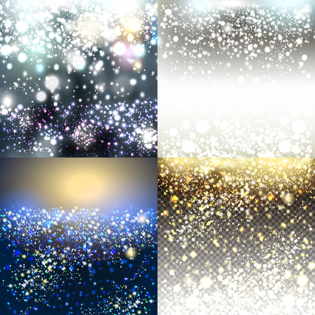 Illustration for Christmas vector pack of shiny blurred backgrounds - Royalty Free Image