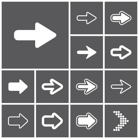 Illustration pour Set of flat simple web icons (arrows), vector illustration - image libre de droit