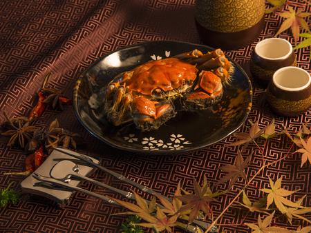 Foto de Hairy crabs close up view - Imagen libre de derechos