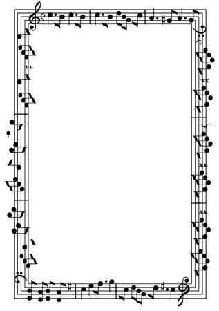 Ilustración de Musical theme frame - Imagen libre de derechos