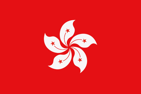 Illustration pour Flag of Hong kong - image libre de droit