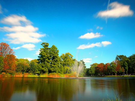 Photo for fountain in Vondelpark, Amsterdam - Royalty Free Image