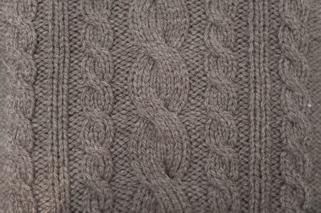 Photo pour A handmade grey knitting wool texture background. - image libre de droit
