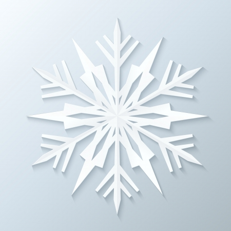 Illustration for Paper Snowflake. Vector Illustration. - Royalty Free Image