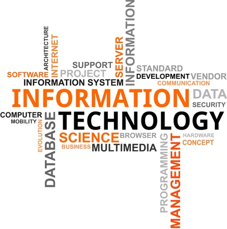 Photo for A word cloud of information technology related items - Royalty Free Image