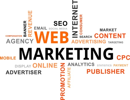 Ilustración de word cloud - web marketing - Imagen libre de derechos