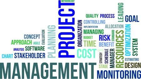 Illustration for A word cloud of project management related items - Royalty Free Image