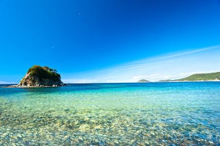 Foto de La Paolina beach, Procchio,  Elba island. - Imagen libre de derechos