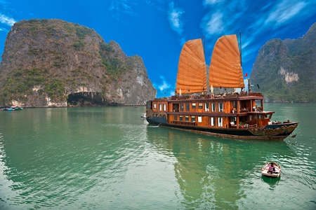 Photo for Halong Bay, Vietnam. Unesco World Heritage Site. Most popular place in Vietnam. - Royalty Free Image
