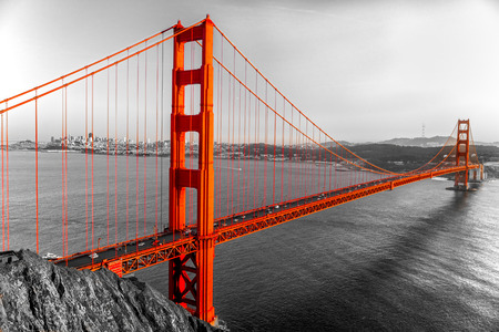Photo pour Golden Gate in San Francisco, California, USA. - image libre de droit