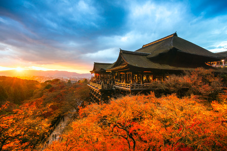 Photo for Autumn Color at Kiyomizu-dera Temple in Kyoto, Japan - Royalty Free Image