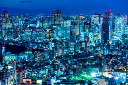 Photo pour Tokyo skyline, Shinjuku,  Japan. - image libre de droit