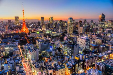 Photo pour View of Tokyo Skyline Tokyo, Japan. - image libre de droit