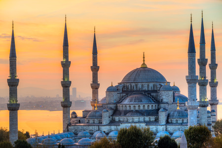 Foto per The Blue Mosque, (Sultanahmet Camii), Istanbul, Turkey. - Immagine Royalty Free