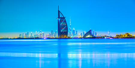 Photo for Dubai skyline at dusk, UAE. - Royalty Free Image