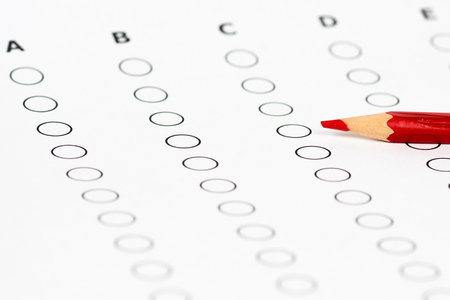 Photo for education examination empty check list - Royalty Free Image