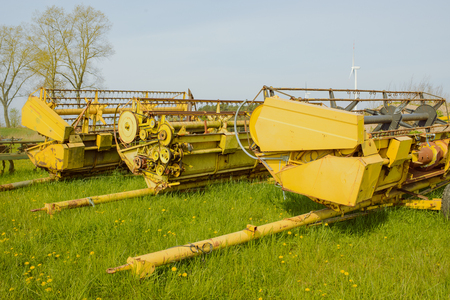 Photo pour Equipment for agriculture on the farm in spring - image libre de droit