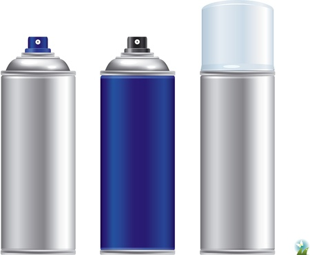 Illustration pour Blank aluminum spray can isolated on white background, Aerosol Spray Can , Metal Bottle   - image libre de droit