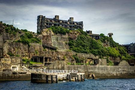 Photo for Hashima Island Abondoned Ghost Island near Nagasaki - Royalty Free Image