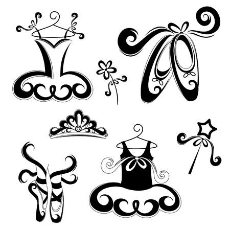 Ilustración de Set of ballet accessories - Imagen libre de derechos