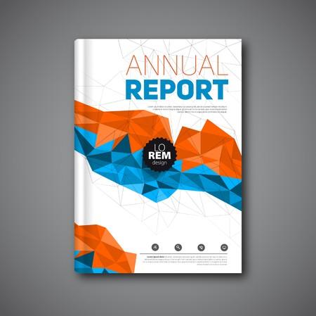 Illustration pour Annual report , Cover report geometric shapes design background, illustration - image libre de droit