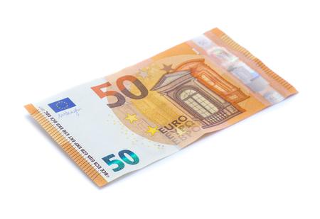 Foto de money euro bills isolated on white - Imagen libre de derechos