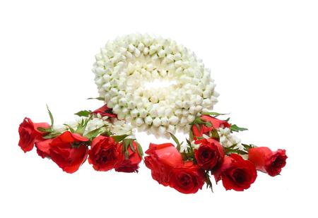 Photo for Thai Garland jasmine isolated on white background - Royalty Free Image