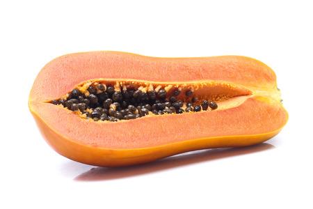 Photo for sweet papaya on white background - Royalty Free Image