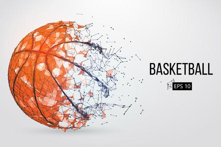 Ilustración de Silhouette of a basketball ball. Vector illustration - Imagen libre de derechos