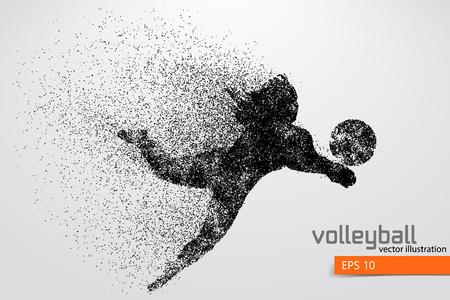 Illustration pour Silhouette of volleyball player. - image libre de droit