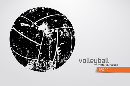 Illustration for Silhouette of volleyball ball. - Royalty Free Image